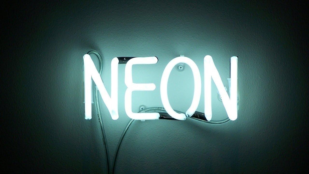 Подключение неоновых ламп, неон в рекламе