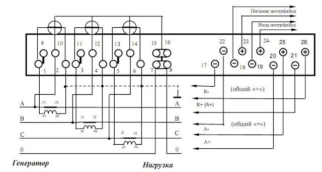 Схемы подключения электросчетчиков