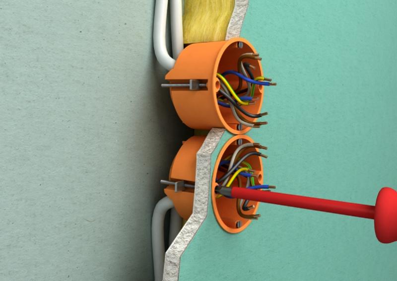 Как как установить розетку в стене из гипсокартона