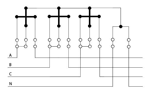 подключение трёхфазного счётчика
