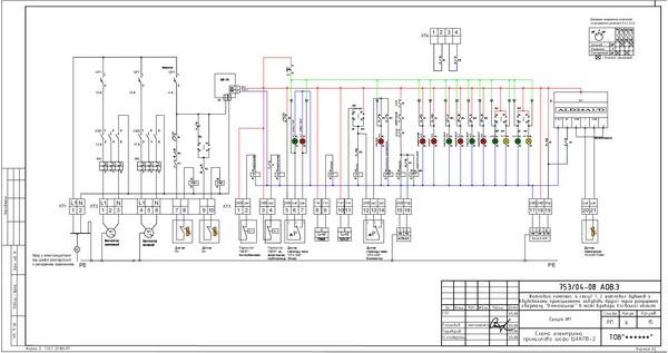 Электрическая схема щита