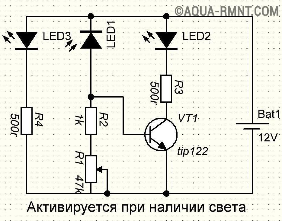 Подключение фотореле, схема подключения