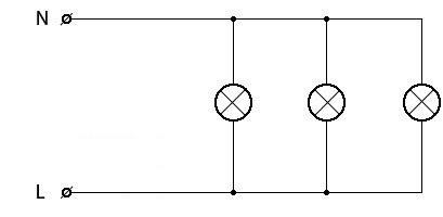 Схема подключения люстры 1