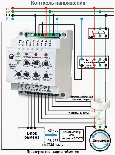 Защита электродвигателей. схема защиты асинхронных электродвигателей