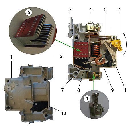 Устройство автоматического выключателя