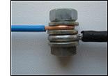 Болтовое соединение медного и алюминиевого провода
