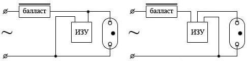 Cхемы подключения натриевых ламп