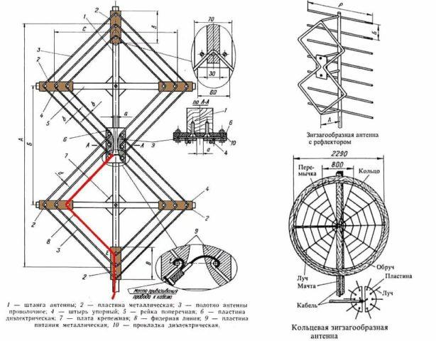 антенна чертеж